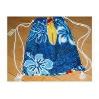 Wholesale Portable Beach Towel Drawstring Bag Reactive Printing With Smooth / Dot Embossing from china suppliers