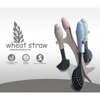 Quality Colorful silicone kitchen tool set with wood handle for cooking utensils for sale