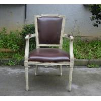 Wholesale Classic Dining Room Furniture US Style Vintage French Square Back PU Side Armchair from china suppliers