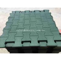 Wholesale Driveway Rubber Patio Pavers / Anti - Slip Recycled Rubber Flooring Thickness 15-100mm from china suppliers