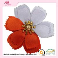 Wholesale 2 colors petals Beaded Handmade Satin Flowers Corsage customized size from china suppliers