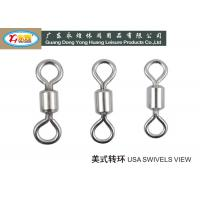 Wholesale High strength 304# Stainless Steel Fishing Swivels / lures and Barrel with snap from china suppliers