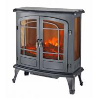 Wholesale 3 sided Electric stove SF-28 real log LED flame Indoor heater double door home decor from china suppliers