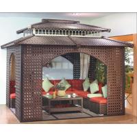 Wholesale China garden house outdoor pavilion with sofa garden rattan tents 1113 from china suppliers