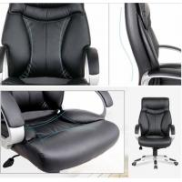 Comfortable Lumbar Support Office Chair High End Adjustable With PU Leather