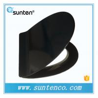 Quick Release Closed Front Ultra Slim V Shape Black Toilet Seat Covers