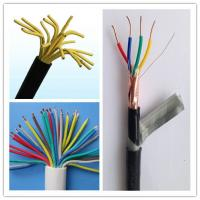 Wholesale Multi Strand Cable Wire Copper Conductor Cable , 14 Gauge 4 Wire Shielded Stranded Control Wire BVVB Cable from china suppliers