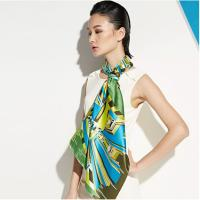 Wholesale OEM Unique Chiffon Plain Heat Transfer Printing Soft Ladies Neck Scarves for Warmth from china suppliers