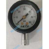 Wholesale 1.5 Inch Bottom tyre pressure gauge with chrome stem and black protector rubber from china suppliers