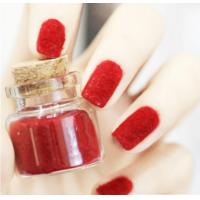 Quality Red Flocking Nail Art Fake Nails Full Cover , pointed fake nails for sale