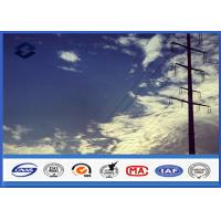 Quality HDG Steel Q345 Gr50 Electrical power Tubular pole , Sub Transmission Pole with Min Zinc Coating 86 microns for sale