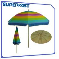 Wholesale IAF Certainfication Silver Coating Rainbow Color 6 Feet Small Beach Umbrella from china suppliers