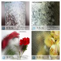 Quality Clear Glass Figured Glass Technique and Flat Shape Clear Nashiji patterned glass for sale