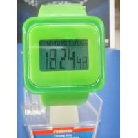 Wholesale Green Square Digital Silicon Band Multifunction Sport Wrist Watches , Waterproof Watches from china suppliers