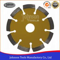 Wholesale 115mm Laser Welded Diamond Blades For Cutting Stone / Concrete Block / Brick from china suppliers