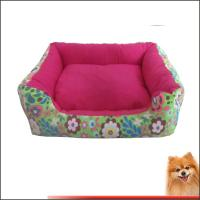 Wholesale Washable Dog Beds Canvas fabric dog beds with flower printed China manufacturer from china suppliers