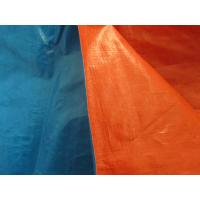 high tensile strength blue/orange PE tarpaulin used for lorry cover