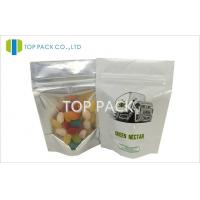 Wholesale Small White Plastic Stand Up Pouches Front Clear Back Foil With Printing 3.5g from china suppliers