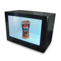 Wholesale 65 Inch Transparent LCD Display Box Play Ads For Cosmetic / Smart Phone from china suppliers