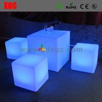 Wholesale LED table outdoor furniture GF301 light furniture plastic Led furniture bar table set from china suppliers