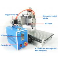 Wholesale Precision Mini 800w 3 Axis Desktop 3020 CNC Router Machine Water Cooling from china suppliers