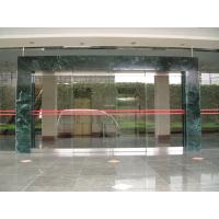 Wholesale Double Sliding Frameless Automatic Glass Door Residential Anodized Silver from china suppliers