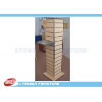 Wholesale Melamine Finished Slatwall Display Stands Customized With MDF / Metal from china suppliers
