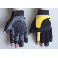 Quality Spandex Back Synthetic Leather Palm safty Protective Mechanic Work Gloves for sale