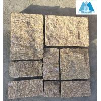 Quality Tiger Skin Yellow Granite Stone Paving Stone Patio Flooring Walkway Pavers Stone Pavement for sale