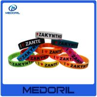 Wholesale Cheap and durable silicon wristband, Wholesale custom silicone bracelet with customer's logo from china suppliers