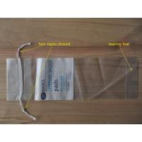 Buy cheap LDPE Clear Drawstring Plastic Bags With Perforation For Cotton Wool Pads from wholesalers