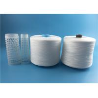 Wholesale 40/2 40/3 spun polyester spun yarn on recycled dye tube natural white or optical white from china suppliers