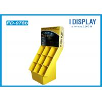 Yellow Custom Cardboard Floor Displays Classic Matte PP For Flashlight
