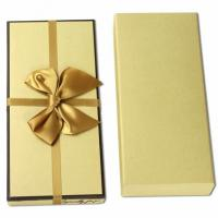 Quality Earring And Necklace Butterfly Gift Box  , Glossy Golden Cardboard Packaging Box for sale