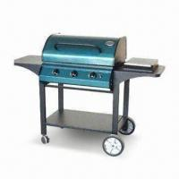 Quality 3B Metal Trolley Gas Grill with Aluminum Rim and Steel Hood for sale