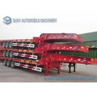 Wholesale 3 Axles Heavy Duty Container Flatbed Semi Trailer Length 13 m from china suppliers