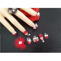 Wholesale Rose Flower 3D Fake Nail Tips for party , Japanese Nail At Design from china suppliers