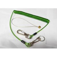 Quality Quick Release Colorful Tool Coiled Lanyards with Clips 2pcs and SS Split Ring and Wire loop connector for sale