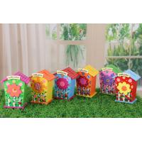 Wholesale low price wooden money box for children,flower print from china suppliers