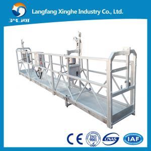 Wholesale ZLP630 hot galvanized wire rope suspended platform / suspended working platform / gondola from china suppliers