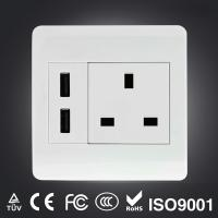 Wholesale Schuko dual USB wall socket from china suppliers