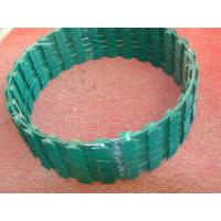 Wholesale Custom Green Razor Barbed Wire Roll Anti Rust 2.0mm - 2.5mm Wire Diameter from china suppliers