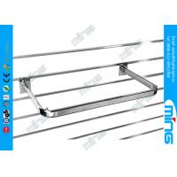 Wholesale Heavy Duty Slatwall Display Shelves Chrome D Rail Hanger , 600mm Width from china suppliers