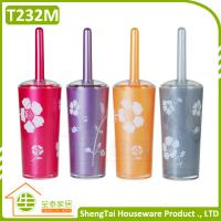 Wholesale Fashion Rose Pattern Printing Toilet Flush Brush With Holder from china suppliers