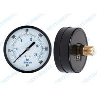 "Wholesale Stainless Steel Pressure Gauge With brass material , back and bottom 3/8"" 1/2"" BSP, NPT, PT from china suppliers"