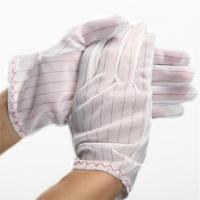 Wholesale 100% polyester fabric ESD Stripped Glove from china suppliers