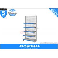 Wholesale Custom Multi Tiered Shop Display Shelf Removable With Grid Wire Mesh Backing from china suppliers