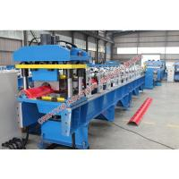 Wholesale Colored / Plained Aluminium Ridge Cap Roll Forming Machine from china suppliers