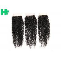Wholesale 8'' - 20''Unprocessed Human Hair Closure Kinky Curly Bleached Knots from china suppliers
