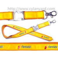 Wholesale Luxury satin overlay lanyards with metal release buckle, from china suppliers